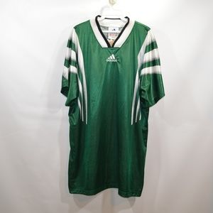 Vintage 90s Adidas Mens Medium Soccer Jersey Green